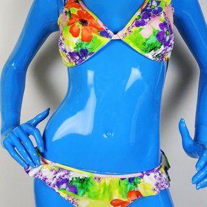 Bond Eye Australia Lotus Floral Ruffle Bikini DD M